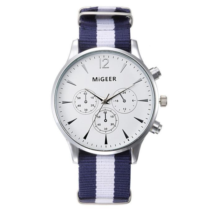 Splendid dropship migeer brand luxury fashion canvas strap watch men quartz watch casual males sport business