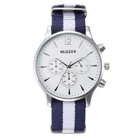 Splendid dropship migeer brand luxury fashion canvas strap watch men quartz watch casual males sport business.jpg 200x200