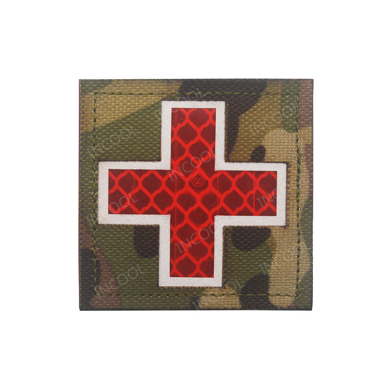 Entertainment Memorabilia Original 3d Medic Red Cross Patch Reflective Emt Ir Patches Military Tactical Morale Patch Rubber Biker Fastener Pvc Glow In Dark Badges