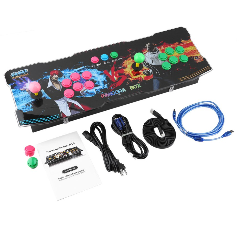 Professional 999 in 1 Classical Arcade Games Station with Super High Video Resolution Providing Fluent Game Control Experience