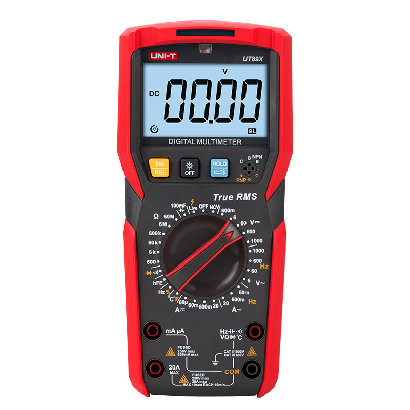 Original UNI-T UT89X/UT89XD True RMS Digital Multimeter High Current NCV/capacitor/triode/temperature/Frequency Resistance Test