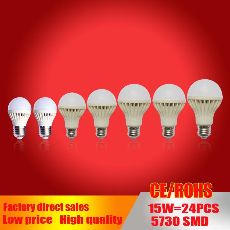 wholesale E27 led bulb  led Lamp B22 5730SMD 3W 5W 7W 9W 12W 15W 20W ball Bulb 110V 220V 230V 240V For Home Led Spotlight Lamps