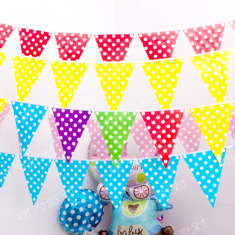 polka dot party flags - photo #31