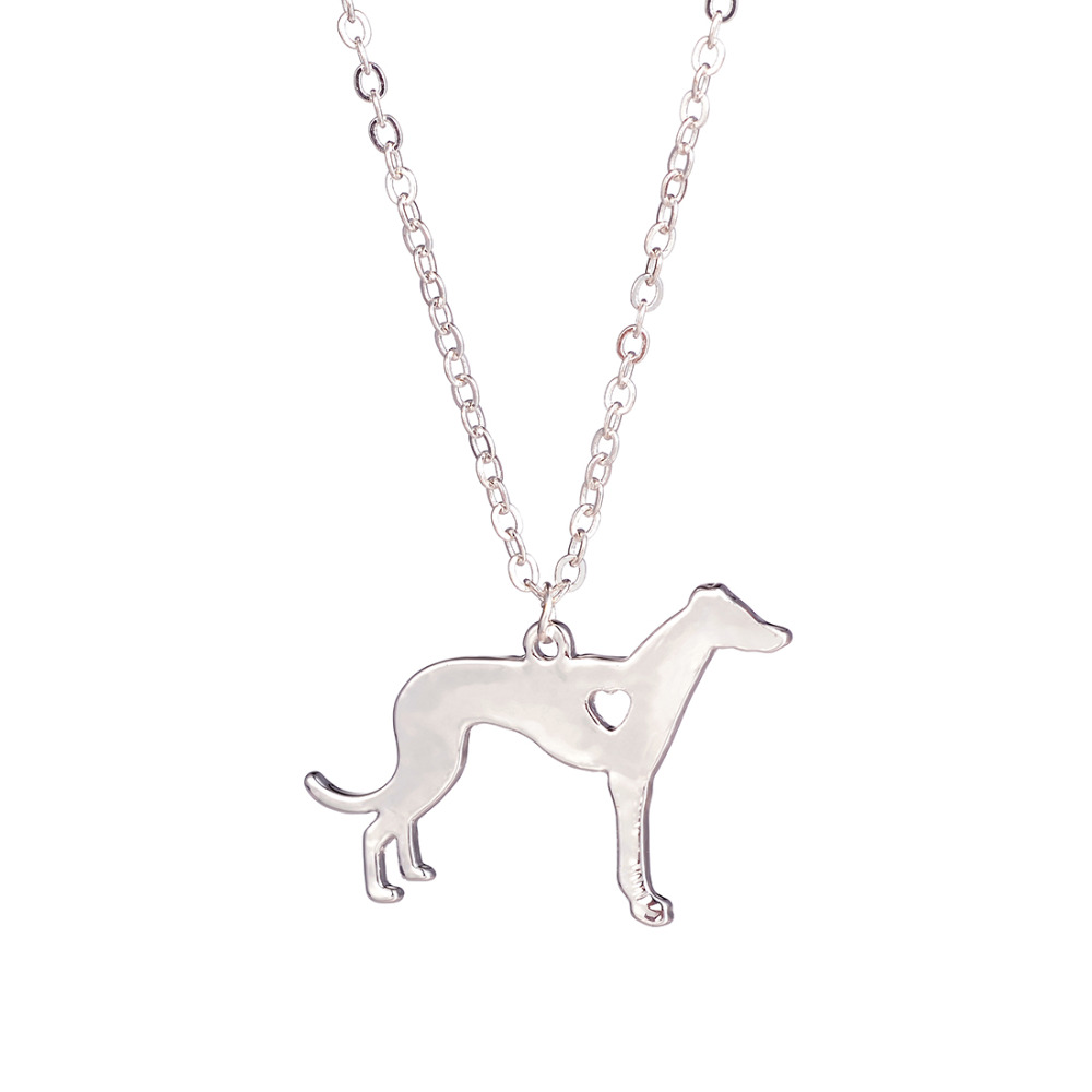 Hot Sale 10pcs Greyhound Necklace Dog Pendant Jewelry Dog Breed Pet Jewelry Memorial Gift Breeder Dog lovers for women bijoux