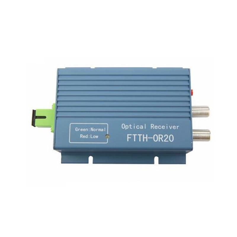 imágenes para Aluminio FTTH CATV AGC Micro SC APC Simplex Conector con 2 puerto de salida de CATV de Fibra Óptica WDM para FTTH PON OR20 Receptor