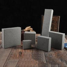 10 Pack/Lot Grey Kraft Paper Jewelry Boxes Vintage Design Earrings Ring Necklace Gift Box Christmas GIft Cases
