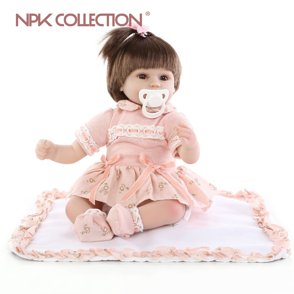 NPKCOLLECTION New Reborn Baby Doll Soft Silicone Vinyl Real Touch Newborn 16inch 40cm princess bebes reborn