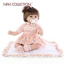 18 pollici realistici Silkworm reborn baby soft silicone vinile vero tocco bambola adorabile neonato