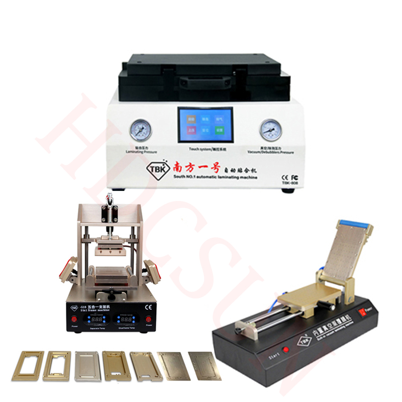 Newest TBK-808 Automatic Bubble Removing Machine OCA Vacuum Laminating Machine+5 in1 Frame Separator machine+OCA film machine tbk lcd repair equipment oca vacuum laminator machine 3 in1 automatic oca film machine aluminum alloy automatic separator