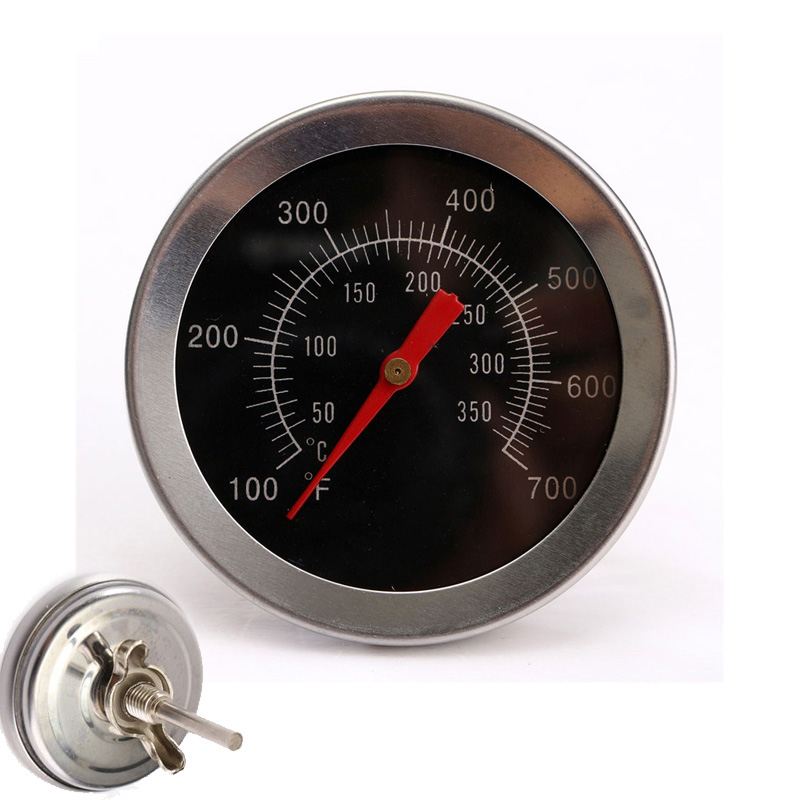 Stainless steel BBQ Accessories Grill Meat Thermometer Dial Temperature Gauge Gage Cooking font b Food b