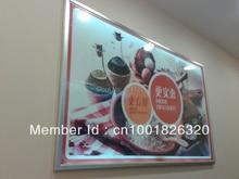 led aluminum backlight display advertising photo lightbox,led light frame sign box 1000mmx1500mm size