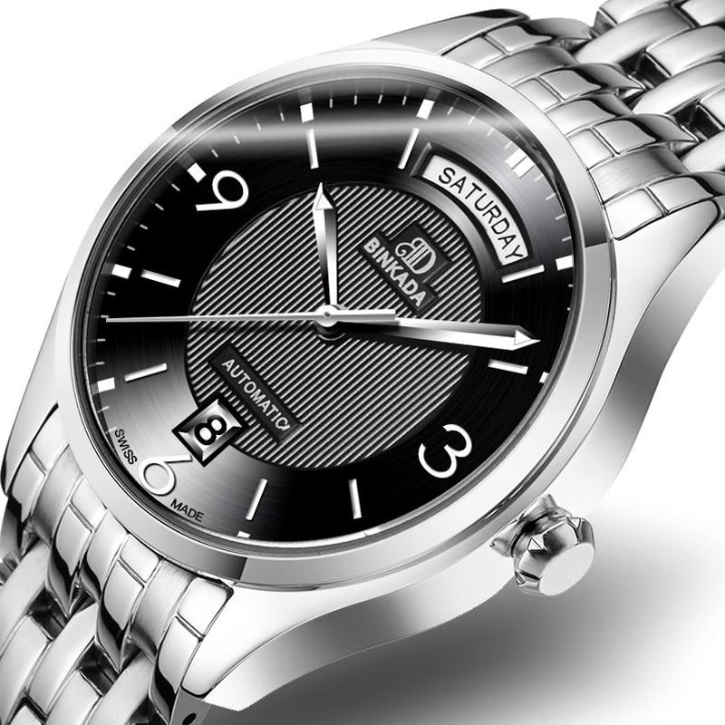 Männer automatische mechanische Uhren hohl wasserdicht Business - Herrenuhren