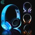 Bluetooth levou luz brilhante fones de ouvido estéreo sem fio fone de ouvido fone de ouvido handsfree earphone + mic para o iphone htc xiaomi huawei
