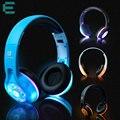 Bluetooth llevó la luz brillante auriculares auricular estéreo inalámbrico auriculares manos libres de auriculares + mic para el iphone htc xiaomi huawei
