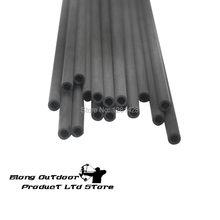 Free shipping wholesale 12 pcs 30″ spine 350 , id4.2mm pure carbon shaft arrow tube DIY hunting bow, hunting &shooting