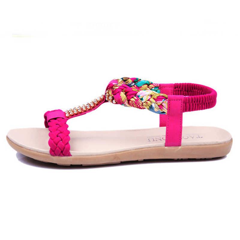 Vrouwen Sandalen Zomer Mode Vrouwen Schoenen Strand Sandalen Dames Comfortabele Vrouwen Zomer Schoenen Vrouwelijke Flats Sandalias Mujer