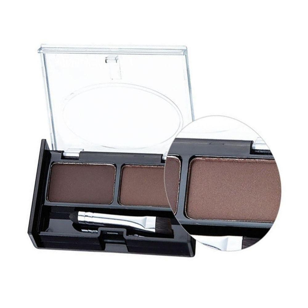 Professional Eye Brow Makeup 2 Color Shadow brow Powder With Brush brow Cake Dark Brown Make Up Palette Set Kit New