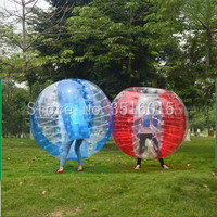 Free Shipping Inflatable Bumper Ball 1.5m (5FT) Bubble Soccer Ball 0.8mm PVC Zorb Ball Human Hamster Ball for Adults