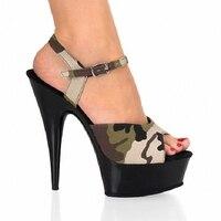 15 cm Thin Heels women's Sandals Back Strap Super High women's shoes high-heeled sandals Dance Shoes