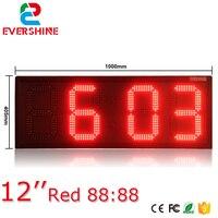 Vender Reloj digital grande para exteriores pantalla de temperatura 12 pulgadas color único rojo 88 88 led