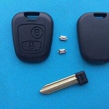 ZABEUDEIR для Citroen Saxo Berlnigo Xsara Picasso И т. д. 2 кнопки дистанционного ключа чехол в виде ракушки пустой неразрезанное лезвие+ 2 шт. микропереключатели
