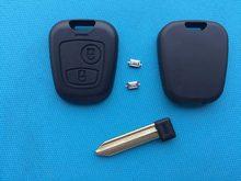 Чехол для дистанционного ключа с 2 кнопками для Citroen Saxo доступно Xsara Picasso и т. Д., пустое необработанное лезвие с 2 микропереключателями, автоза...