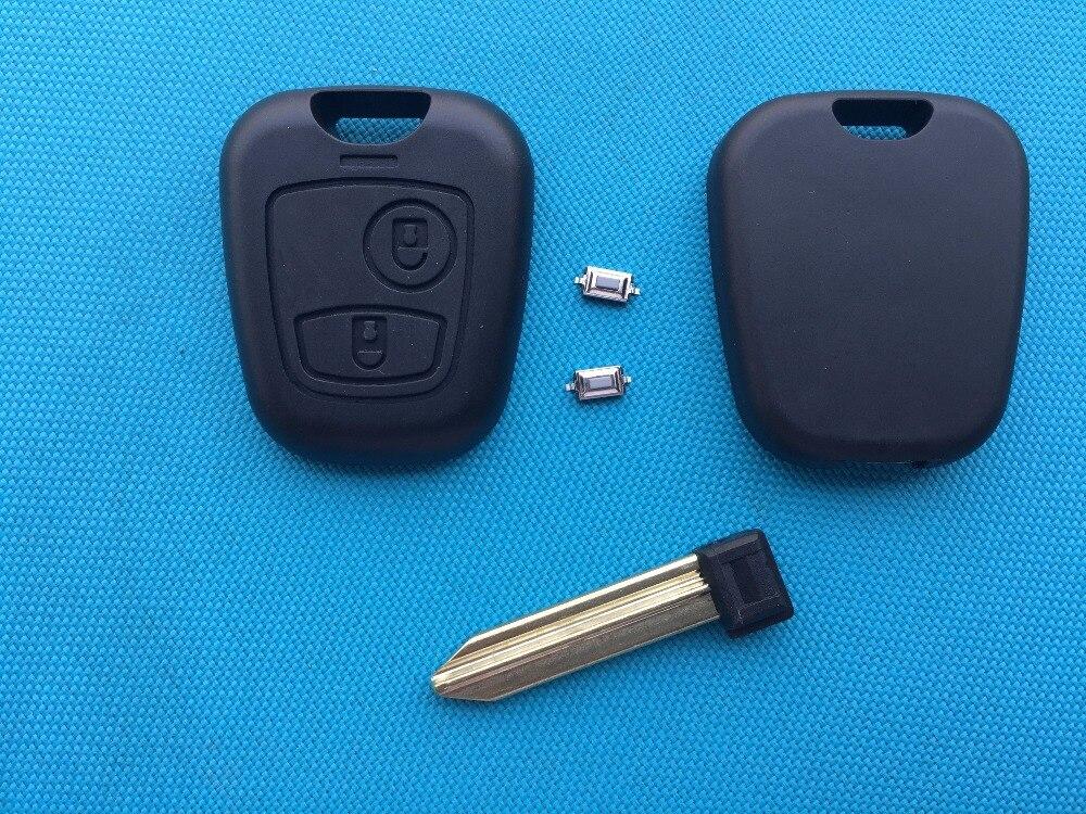 ZABEUDEIR для Citroen, зонтика, Xsara Picasso И др., 2 кнопки, чехол для ключа с дистанционным управлением, пустая неострое лезвие + 2 микропереключателя
