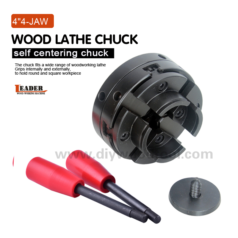 4 Inch Wood Lathe Chuck 100 Mm,mini Cnc Lathe Woodworking Machine Chucks, Machine Parts,4-Jaw Self-centering Wood Turning Chuck