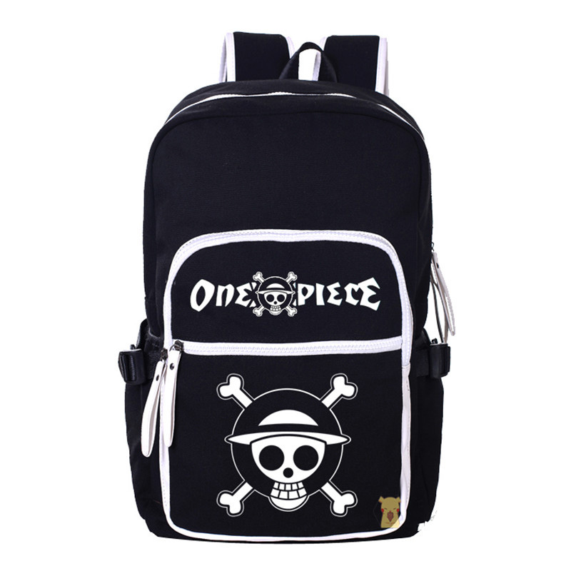 ONE PIECE Cartoon Canvas Backpack Luffy Anime School Shoulders Bag Mochila Free Shipping