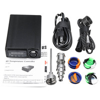 Electric Titanium Alloy E Nail Box Kit Temperature Control Heater Aromatherapy Oil 16/20mm UK/EU/AU/US Plug E2S