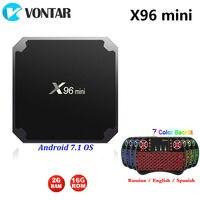2GB16GB X96mini Smart Android 7.1 TV BOX X96 mini Amlogic S905W Set top BOX Quad Core 4K Medie player 2.4GHz WiFi X96mini 1G8G
