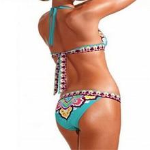Women Bikini Triangle Ethnic Geometric