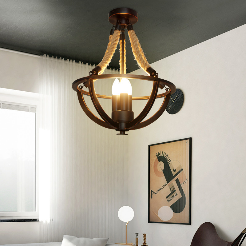 Candle black Retro Vintage Rope Pendant Light Lamp Loft Industrial E27 Pendant Lamp Edison Bulb For Living Room/restaurant/foyer edison retro pendant light industrial loft lamp vintage for restaurant decor d25cm h100cm free shipping c glt2013