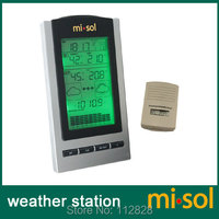 Free Shipping 1 UNIT of wireless Weather Station with Outdoor Temperature and humidity sensor LCD display, Barometer