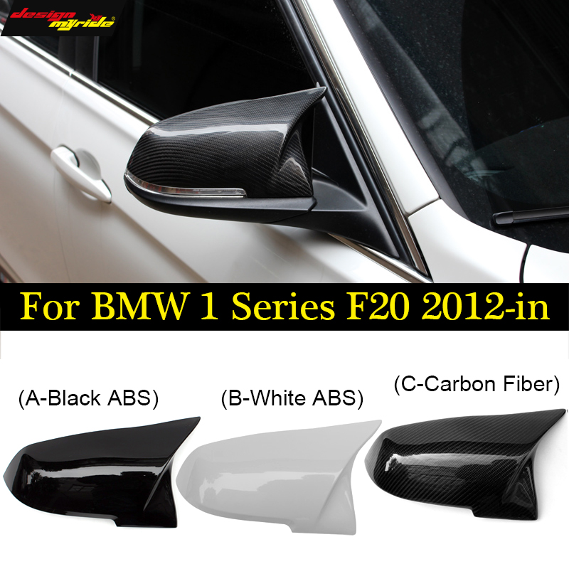 F20 mirror covers F21 look Replacement mirror cover ABS of Carbon Fiber For BMW F20 F21 118i 120i 125i 128i 135i mirror 2012 18 in Mirror Covers from Automobiles Motorcycles