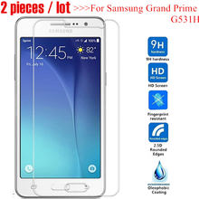 2pcs Tempered Glass For Samsung Galaxy Grand Prime G531 G531H SM-G531H G531F SM-G531F GLASS Sklo on G530 G530H Screen Protector(China)