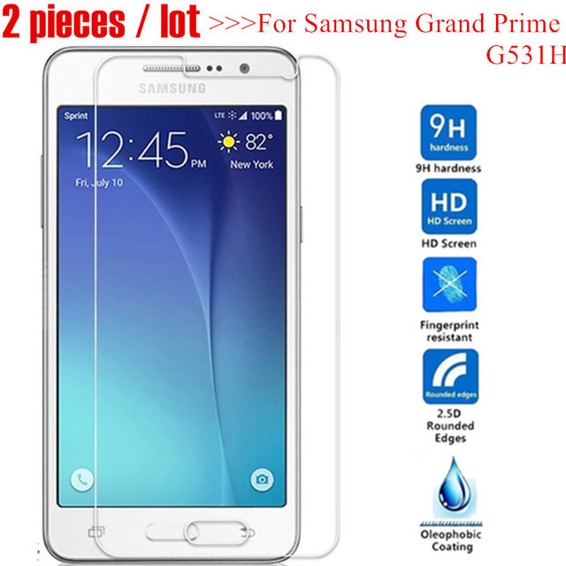 2pcs Tempered Glass For Samsung Galaxy Grand Prime G531 G531H SM-G531H G531F SM-G531F GLASS Sklo on G530 G530H Screen Protector