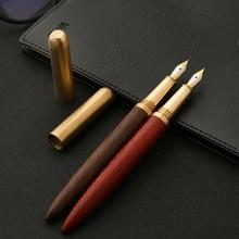 Luxurious quality brass Red wood Pear Rosewood golden Iridium classic fountain pen