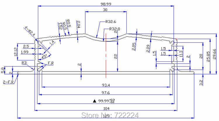 129*30*150 мм настенный алюминиевый корпус для электрической платы DIY PCB корпус электронный проект усилитель питания