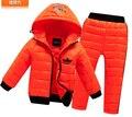 2016 детей мальчики девочки зимняя одежда костюм костюмы установить ребенок ребенок Спортивные теплый пуховик + брюки костюмы WA8425
