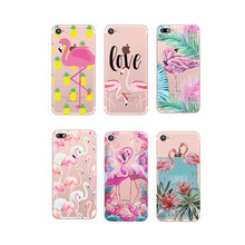 Phone Cases Hibiscus Paradise Pink Flamingo Tropical Flowers Palm Leaves TPU Case for Apple iPhone 4 4s 5 5s 5c 6 6s 7 Plus SE