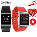 X9 Más Sangre Betreasure Bluetooth Pulsera Inteligente Inteligente fitness Pulsera Heart Rate Monitor de Oxígeno Arterial Smartband Impermeable