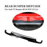 PU Matt Black Rear Bumper Diffuser Lip Spoiler For Audi TT 8J MK2 Non Sline 2008 2010 Non US Car