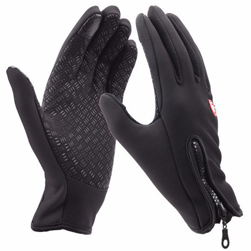 2018 Men Glove Winter Windproof Glove For Men Warm Glove Fashion Classic Black Gloves For Women
