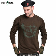 DRIFTSTONE Men Style Winter Cotton Outerwear Male Loose Plus Size Sweater Military
