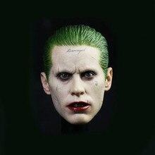 Custom 1/6 Suicide Squad Joker Jare Leto Head Sculpt Carving Fit 12 Figure Hot Toys