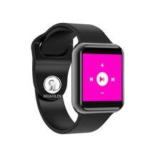Купить с кэшбэком Bluetooth Smart Watch Series 4 SmartWatch Case for Apple iOS iPhone Xiaomi Android Smart Phone samsung Apple Watch (Red Button)
