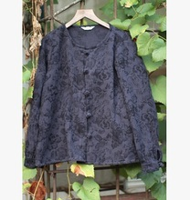 New products listed in the spring of 2016, the original design loose big yards women 100% cotton linen shirt