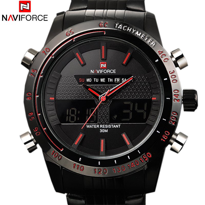2016 Sports Watches font b Men b font Luxury Brand Male Watch Analog LED Digital Watches