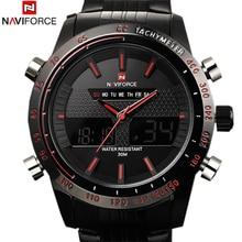 2016 deportes relojes hombres marca de lujo para hombre reloj del análogo LED Digital relojes para hombre de acero completo de relojes del cuarzo militar